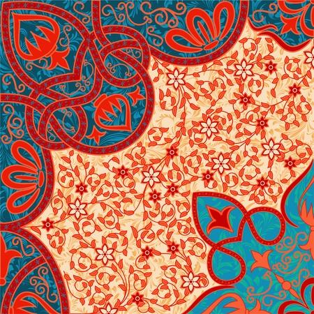 florale achtergrond arabesque Vector Illustratie