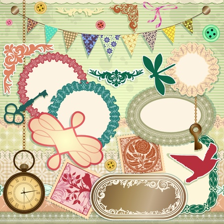 scrap booking set