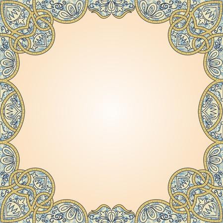 floral arabesque seamless background Vector