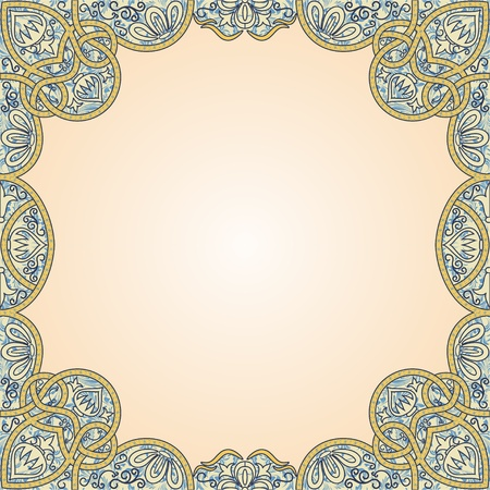 floral arabesque seamless background