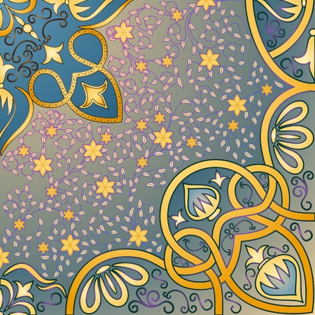 islamic art: floral arabesque background