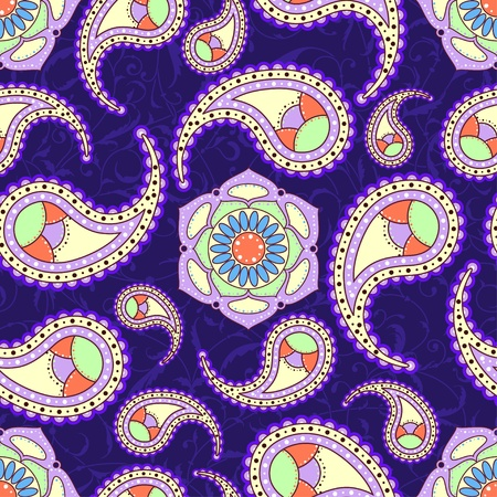 Bright seamless paisley pattern Vector