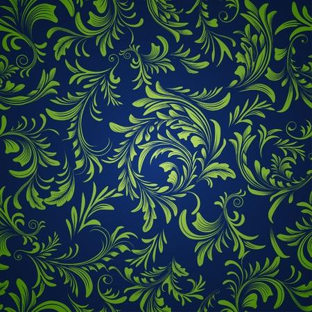 빈티지 꽃 원활한 패턴