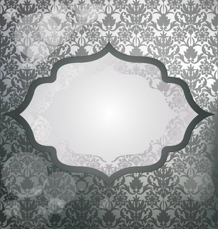 Luxury silver invitation