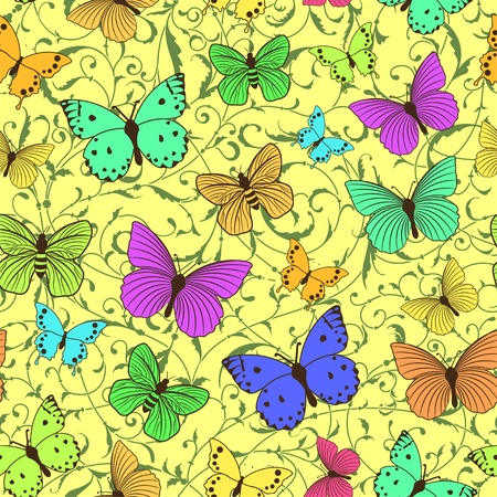 Seamless pattern with stylized butterflies Stock Vector - 14254757