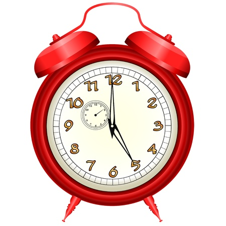 icon of red alarm clock Vector