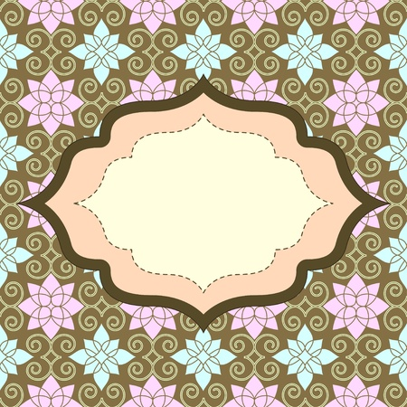 Retro invitation with seamless pattern Stock Photo - 14885958