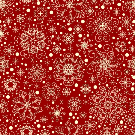 flakes: Seamless snowflakes pattern Illustration