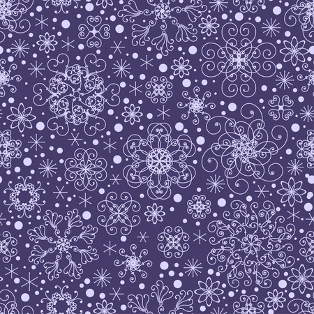Seamless snowflakes pattern Stock Vector - 15542011