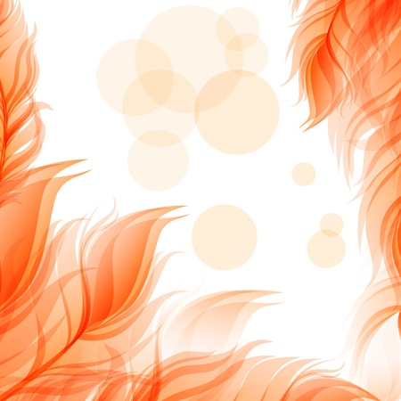 feather pen: Abstract romantic background Illustration