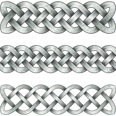 braids: Set of silver celtic braids