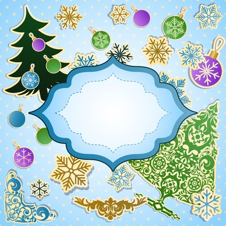 christmastide: Vector scrapbooking set for Christmas