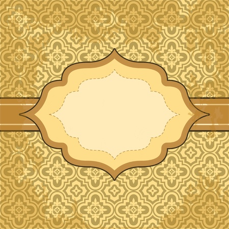Vector vintage pattern and frame for design Stock Vector - 17883766