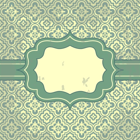 Vector vintage pattern and frame for design Stock Photo - 17883767