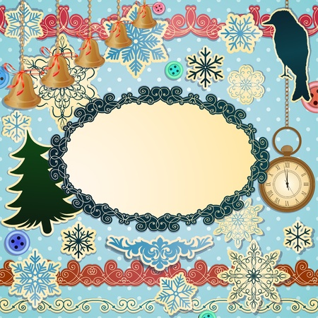 christmastide: Vector scrapbooking luxury set for Christmas