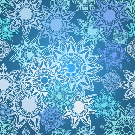 Seamless texture of abstract geometric snowflakes Stock Vector - 17959056