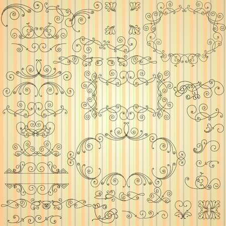 Set of calligraphic swirls for design Stock Vector - 17959109