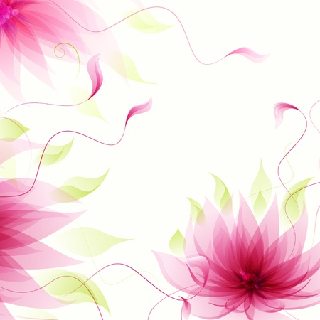 Abstract background with vector pink lotus flower Illustration