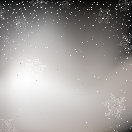 Black and white Christmas background with whirling snow Vector