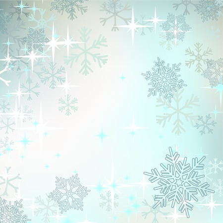 Abstract Christmas background with snowflakes Stock Vector - 17959194