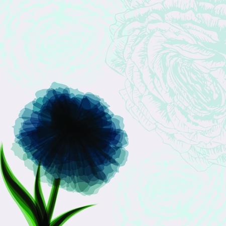 Vintage background with dark blue flower vector photo