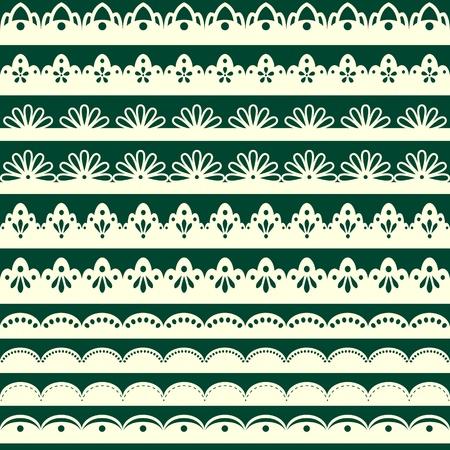 Set of vintage seamless borders Stock Vector - 18233345