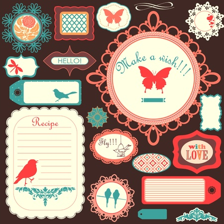 scrapbooking: Cute scrapbook childish set Illustration