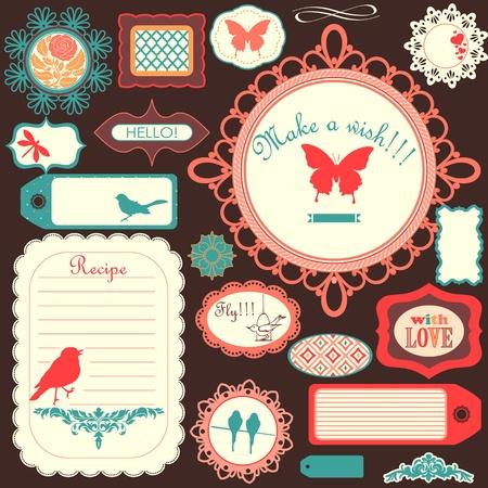 papel scrapbook: Lindo scrapbook conjunto infantil