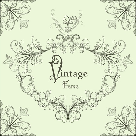 Vector vintage calligraphic frame Vector