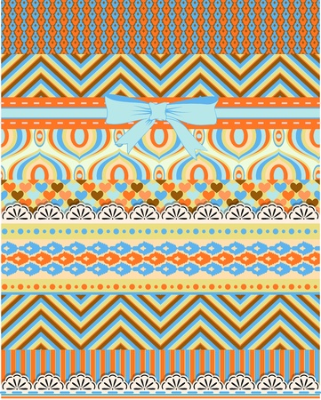 Set of patterns and stripes for scrapbooking Stock Vector - 18512356
