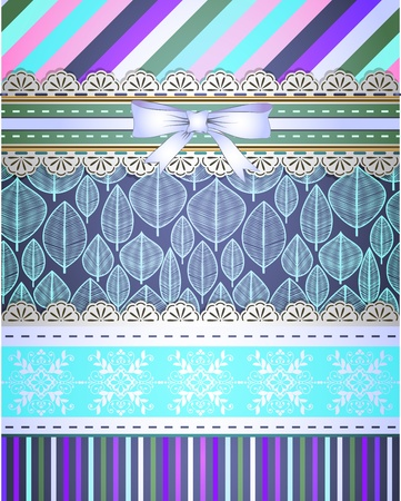 Set of patterns and borders for scrapbooking Stock Vector - 18512388