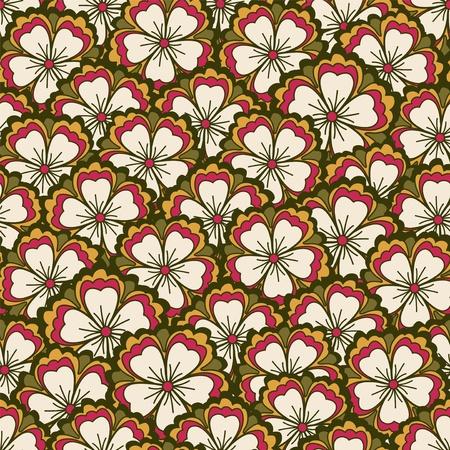 Spring flower pattern Vector