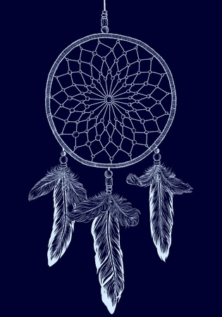 shaman: Dream catcher vector