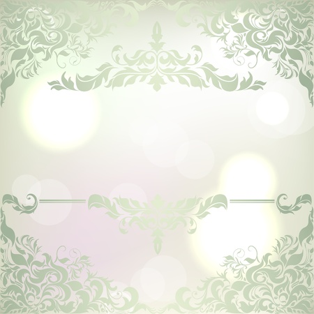 christmastide: Abstract Christmas background with frosty frame