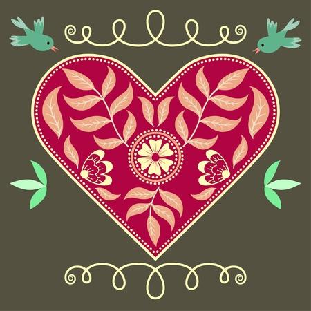 Vector ornate heart Vector