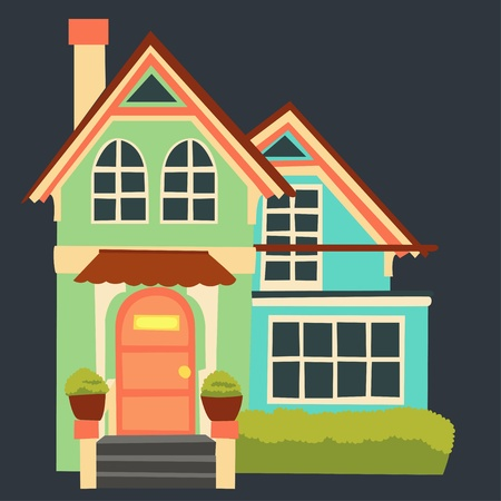 vintage cartoon house Vector