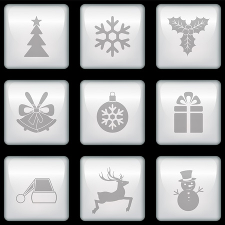 Vector Christmas icons Stock Vector - 21762596