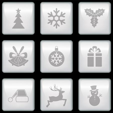 Vector Christmas icons Stock Vector - 21762596