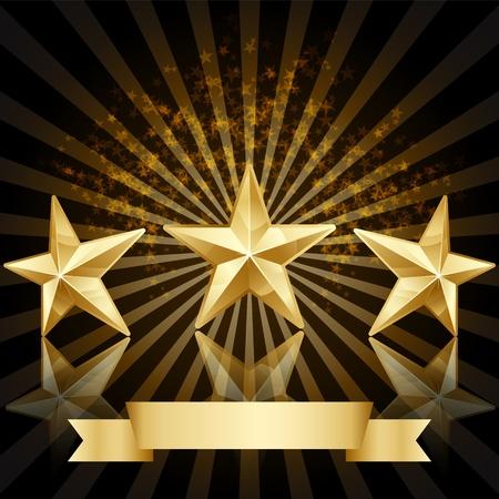 gouden ster: Gold star award achtergrond