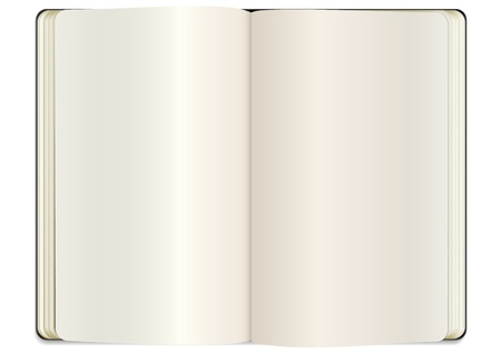 open clear note book