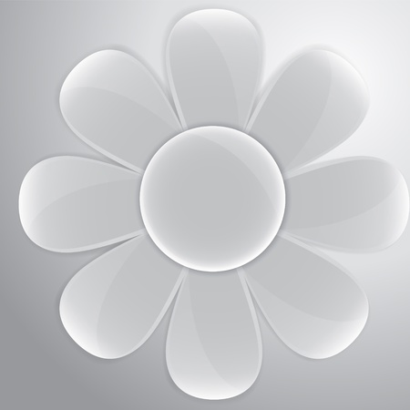 daisy vector: Vector white glass daisy for buttons and interface Illustration
