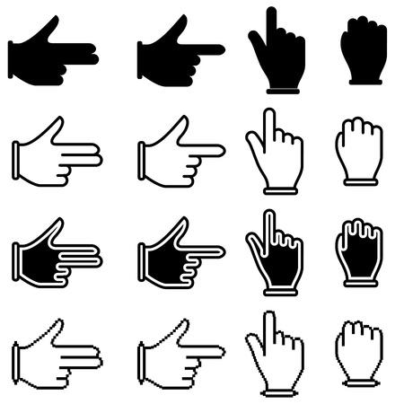 set of hand cursor