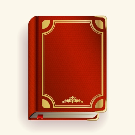 old notebook: Vector red leather book Illustration