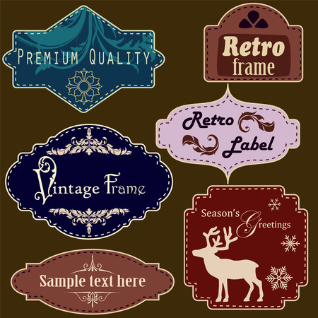 christmastide: Retro frames set