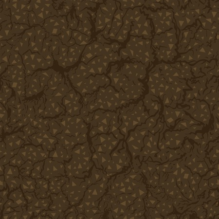 fertile: Seamless pattern of ground inside. Vector Illustration Illustration