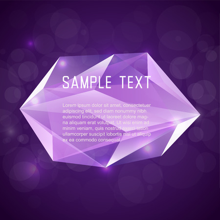 Abstract crystal frame for design Vector