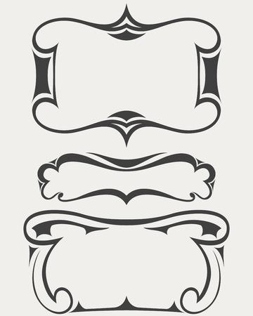 artdeco: Set of vector frames in art-deco style