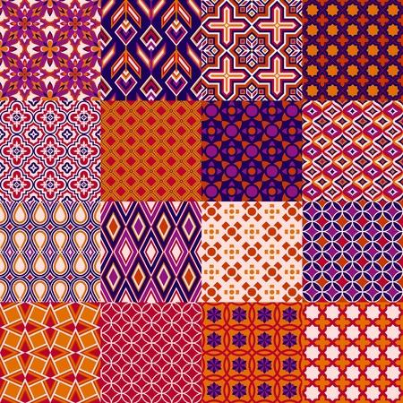 etno: Set of classic bright geometric patterns