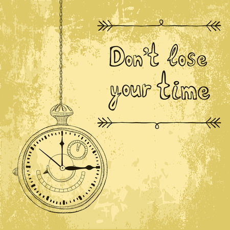 antique clock: Sketch background with timer