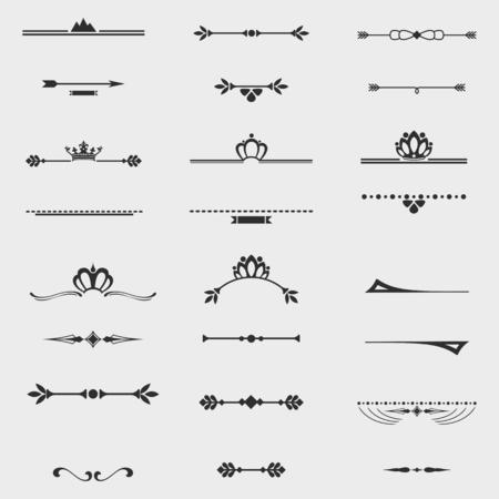 Collection of twelve vintage frames for design Vettoriali